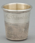 Silver Holloware, American:Cups, A GROUP OF FIVE AMERICAN SILVER AND SILVER GILT THIMBLE-FORM SHOTGLASSES . Maker unidentified, American, circa 1920. Marks ...(Total: 5 Items)