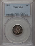 Bust Dimes: , 1833 10C XF40 PCGS. PCGS Population (26/247). NGC Census: (7/235).Mintage: 485,000. Numismedia Wsl. Price for problem free...
