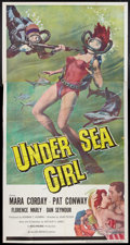 "Movie Posters:Crime, Undersea Girl (Allied Artists, 1957). Three Sheet (41"" X 81"").Crime.. ..."