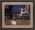 Baseball Collectibles:Photos, Derek Jeter Signed Oversized Photograph....