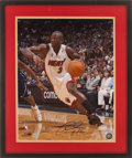 Basketball Collectibles:Photos, Dwyane Wade Signed Oversized Photograph....