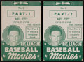 "Baseball Cards:Singles (1930-1939), 1938 Goudey Movie Flip Books - Mel Ott ""Puts It Over The Fence""Part One and Part Two. ..."