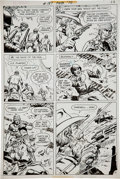 Original Comic Art:Panel Pages, Sam Glanzman G. I. Combat #187 Haunted Tank page 12 OriginalArt (DC, 1976)....