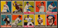 Baseball Cards:Lots, 1948-49 Leaf Baseball Collection (10 Different) With Kiner Rookie....