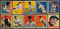 Baseball Cards:Lots, 1948-49 Leaf Baseball Collection (10 Different) With Two HoFers....