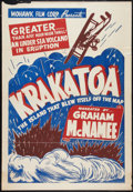 "Movie Posters:Documentary, Krakatoa (Mohawk, R-1930s). One Sheet (27"" X 41""). Documentary.. ..."