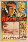 """Movie Posters:Serial, Black Arrow (Columbia, 1944). One Sheet (27"""" X 41"""") Chapter 3-- """"The Seal of Doom."""" Serial.. ..."""