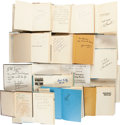 Football Collectibles:Publications, Vintage Football Signed Hardcover Books Lot of 17....