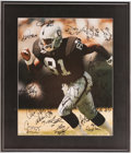 Football Collectibles:Photos, 1995 Oakland Raiders Team Signed Oversized Photograph....