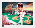 Baseball Collectibles:Others, Ted Williams Signed Carlo Beninati Serigraph....