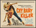 "Movie Posters:Crime, Cry Baby Killer (Allied Artists, 1958). Half Sheet (22"" X 28""). Crime.. ..."
