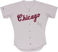 Baseball Collectibles:Uniforms, 1989 Harold Baines Game Worn, Signed Jersey....
