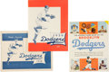 Baseball Collectibles:Publications, 1950 and 1955 Brooklyn Dodgers Publication Lot of 2....