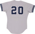 Baseball Collectibles:Uniforms, 1983 Edwin Rodriguez Game Worn Jersey....