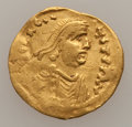 Ancients, Ancients: Constans II (AD 641-668). AV tremissis (1.41 gm). ...