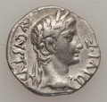 Ancients:Roman Imperial, Ancients: Augustus (27 BC-AD 14). AR denarius (3.67 gm). ...