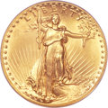 High Relief Double Eagles, 1907 $20 High Relief, Flat Rim MS65 PCGS. CAC....