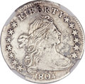 Early Dimes, 1804 10C 13 Stars on Reverse--Damaged--NGC Details. AU. JR-1,R.5....