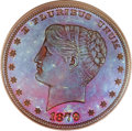 Patterns, 1879 $1 Goloid Metric Dollar, Judd-1632, Pollock-1829, R.7, PR66Red and Brown PCGS....