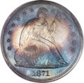 Proof Seated Dollars, 1871 $1 PR66 Cameo PCGS Secure. CAC....