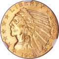 Indian Half Eagles, 1908 $5 MS65 NGC. CAC....