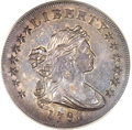 Early Dollars, 1798 $1 Large Eagle, Wide Date, Pointed 9 MS62 ANACS. B-23a,BB-105, R.3....
