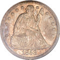 Seated Dollars, 1853 $1 MS64 NGC. CAC....
