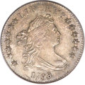 Early Dimes, 1798/97 10C 16 Stars on Reverse MS64+ PCGS. CAC. JR-1, R.3....