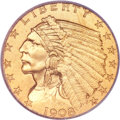 Proof Indian Quarter Eagles, 1908 $2 1/2 PR66 PCGS....