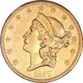 Liberty Double Eagles, 1857-O $20 AU55 NGC....