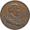 Colonials, 1795 1/2P Washington Grate Halfpenny, Small Buttons, Reeded Edge MS63 Brown PCGS. Baker-29D, W-10950, R.4....