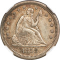 Seated Quarters, 1858-S 25C XF45 NGC. Variety 1-A....