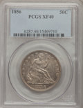 Seated Half Dollars: , 1856 50C XF40 PCGS. PCGS Population (8/88). NGC Census: (2/74).Mintage: 938,000. Numismedia Wsl. Price for problem free NG...