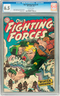 Golden Age (1938-1955):War, Our Fighting Forces #3 (DC, 1955) CGC FN+ 6.5 Off-white pages....