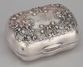 Silver Holloware, American:Boxes, AN AMERICAN SILVER SOAP BOX . Gorham Manufacturing Co., Providence,Rhode Island, circa 1901. Marks: (lion-anchor-G), STER...