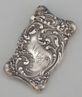 Silver & Vertu:Smalls & Jewelry, AN AMERICAN SILVER MATCH SAFE . Unger Bros., Newark, New Jersey, circa 1900. Marks: UB (conjoined), STERLING 925 FINE...