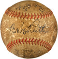 Autographs:Baseballs, 1931 Babe Ruth, Lou Gehrig & More Multi Signed Baseball....