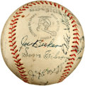 Autographs:Baseballs, 1935 San Francisco Seals Team Signed Baseball with Joe DiMaggio....
