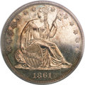 Proof Seated Half Dollars, 1861 50C PR64 PCGS....