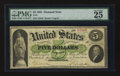 Large Size:Demand Notes, Fr. 2 $5 1861 Demand Note PMG Very Fine 25 EPQ.. ...