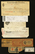 Miscellaneous:Other, Various Checks and Other Oddities. . ...