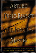 Books:Signed Editions, Arturo Pérez-Reverte. SIGNED. The Fencing Master. Translated from the Spanish by Margaret Jull Costa. New York: Harc...