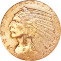 Indian Half Eagles, 1911-S $5 MS65+ PCGS. CAC....