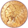 Indian Half Eagles, 1914 $5 MS66 PCGS. CAC....