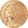 Indian Half Eagles, 1909 $5 MS66 PCGS....