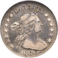 Early Half Dimes, 1800 H10C VF25 NGC. CAC. V-1, LM-1, R.3....