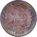 Bust Half Dollars, 1809 50C Normal Edge AU58 PCGS. CAC. O-112, Low R.5....