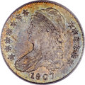 Bust Half Dollars, 1807 50C Capped Bust, Small Stars AU50 PCGS. CAC. O-113, R.2....