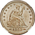 Seated Quarters, 1853 25C Arrows and Rays MS64+ NGC....