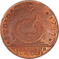 Colonials, 1787 1C Fugio Cent, New Haven Restrike, Copper MS65 Red and BrownPCGS. Newman 104-FF, W-17560....